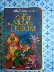 The Great Mouse Detective Vhs Black Diamond