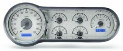 1953-54 Chevy Car Silver Alloy Style Face Blue Display Full Size Vhx-53c-s-b