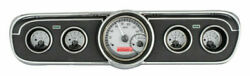 1965-66 Ford Mustang Vhx System Silver Alloy Style Face Red Display