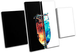 Fire Water Glass Conceptual Ying Yang Food Kitchen Canvas Artwork Print Photo