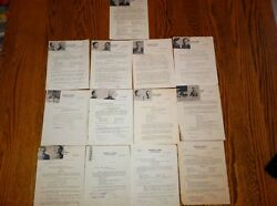 Very Rare 13 1925-26 Pre-fbi U.s. Dept. Of Justice Wanted Posters Pls Offer