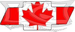 Chevy Bow Tie Canadian Flag Decal/sticker Free Shipping