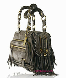 COACH Ltd ed ALEXA METALLIC FRINGE CAMBRIDGE SHOPPER TOTE BAG PURSE SATCHEL RARE