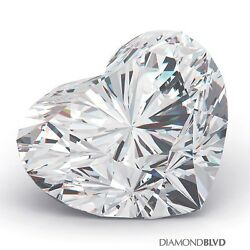 1.75 Carat HSI1Ex Cut Heart Shape AGI Earth Mined Diamond 6.81x8.14x5.04mm