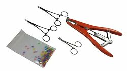 Tail Docking Dewclaw Removal Kit Newborn Puppies Kittens Elastrator + Bands