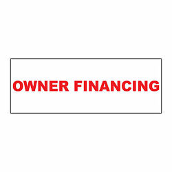 Owner Financing Red Metal Aluminum Real Estate Rider Sign - 1 Or 2 Side Print