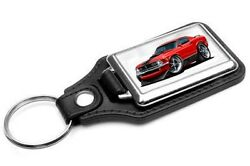 1970 Ford Mustang Mach 1 Car-toon Key Chain Ring Fob NEW