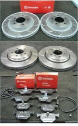Bmw 325i 325ci 320d E46 Brake Disc Drilled Grooved Brembo Brake Pads Front Rear