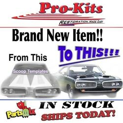 Fits 69 70 Coronet Superbee Dual Twin Hood Scoops Mounting Location Template