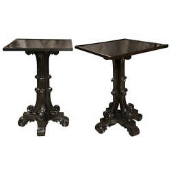 Pair of Early 19th Century Ebony Side Tables 104-40
