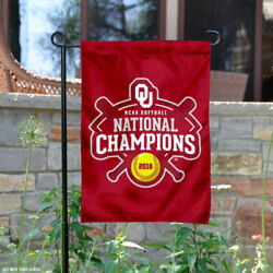 OU Sooners 2016 Women's Softball Champions Garden Flag and Yard Banner