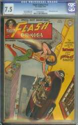 Flash Comics 100 Cgc 7.5 Ow/wh Pages // Golden Age Flash Anniversary Issue