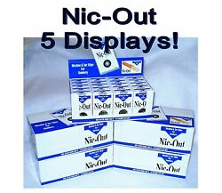 Authentic Nic-out Cigarette Filters - 5 Displays 100 Packs