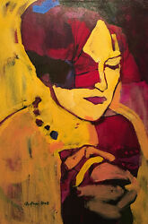 Amy Dryer Canadian - Acrylic On Canvas - Stained Glass Prayer