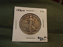 1936s Vf Silver Walking Liberty Half Dollar See Our Store For More Coins 1936 S