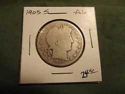 1905s Ag Silver Liberty Barber Half Dollar See Our Store For More 1905 S