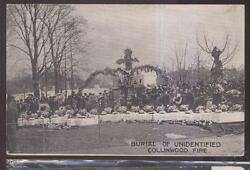 Postcard Collinwood/cleveland Ohio School Disaster Fire 19 Coffins Funeral 1908