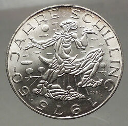 1975 Austria - Large Silver 100 Schilling Coin Sower Field Imperial Eagle I57144