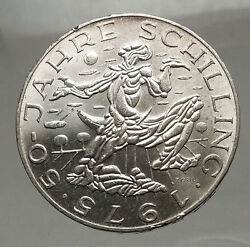 1975 Austria - Large Silver 100 Schilling Coin Sower Field Imperial Eagle I57145