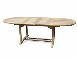 Genuine Grade A Teak 95x 39 Oval Double Extension Table.71 Closed Seats 8-10.