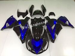 Fit for ZX14 2006-2011 07 08 Black Blue ABS Injection Mold Bodywork Fairing Kit
