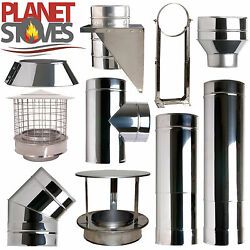 Stainless Shieldmaster Twin Wall Insulated Flue Stove Pipe Multifuel Woodburning