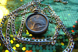 1966 Irish 3 Pence Lucky Rabbit Coin Pendant On A 30 925 Sterling Silver Chain
