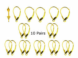 14k Yellow Or White Gold Fleur De Lis Leverback Earring Findings By Pairs