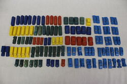93pc Lot Vintage Mpc Colored Plastic Toy Cars, Trucks And Streetcars C.1930s-60s