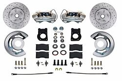 1964 65 66 67 68 69 Ford Mustang Falcon Cross Drilled Disc Brake Conversion Kit
