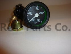 Temperature Gauge Compatible With Willys Mb Jeep Ford Cj Gpw / Black Bezel