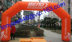Customs Start/finish Inflatable Arch/tent With Logorace Sports Event On Outdoor