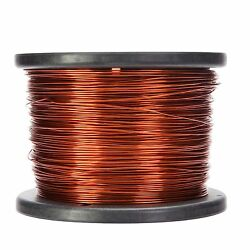 16 Awg Gauge Enameled Copper Magnet Wire 5.0 Lbs 626and039 Length 0.0535 200c Nat