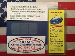 Ccms Omc Johnson Evinrude Race Outboard Reed 200-250hp V6looper Mod. Pn166-3r
