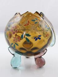 C.1900 Continental Glass Bowl With Applied Decoration