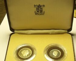 Extremely Rare Dominician Republic 2 Piece 1983 Proof Set100 Mintedfree Ship