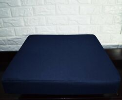 Pl10t Deep Blue Canvas Water Proof Outdoor 3d Box Seat Cushion Covercustom Size