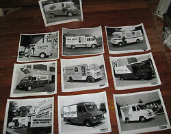 10 1950's 8x10 Glossy Photos Work Trucks With Advertising Boyertown Pa Truck Bod