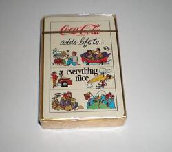 New Never Opened Coca Cola Adds Life To Everything Nice Deck Of Playing Cards 1