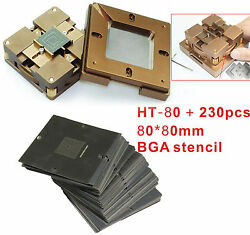 230 pcs Stencil + BGA Chips Repairs Kit fast locking Reballing Station BGA jig