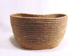 Large Antique Native American Indian Hand Woven Basket Bowl Apache Pima