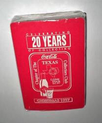 New Never Opened Coca Cola 1997 Texas Christmas Tcccc Coke Deck Of Playing Cards