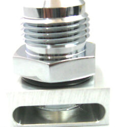 Simchrome Polished Silver 12 An No Weld Vacuum Baffle For Racing Vacuum Pump