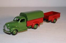 1950's French Dinky Toys, 25q Studebaker Pickup Truck And Trailer, Original