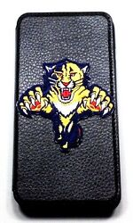 Woodys Originals Florida Panthers Sport Team Leather Cell Phone Cases Lanyard