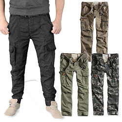 Surplus Menand039s Premium Slimmy Cargo Pants Trousers With Belt Camo Army Bw 3602