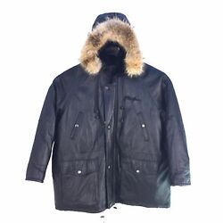 Phat Farm 3/4 Length Men Jacket With Hood Lambskin By Russel Simmons 14225