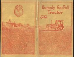 Early 1900's Rumely Gaspull Farm Tractor Equipment Sales Promo Brochure Adv