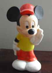 Vintage 1982 Child Guindance Rubber Mickey Mouse Squeeky Toy 5 1/2 Tall