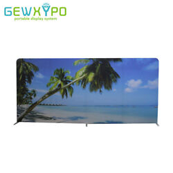 500cm Width Straight Stretch Fabric Display Stand With One Side Printed Banner